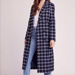 S197 Bb Dekota Plaid Long Coat